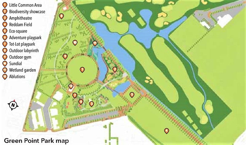 Green Point Park Map